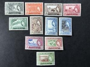 MALAYA/MALACCA # 45-55 -MINT NEVER/HINGED & MINT/HINGED-----COMPLETE SET----1957
