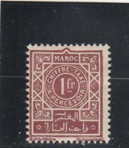 French Morocco  Scott#  J49  MH / HR (1947 Surcharged)