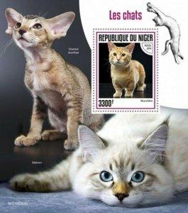 WD08/05/20-Niger - 2019 Cat Breeds on Stamps - Stamp Souvenir Sheet - NIG190304b