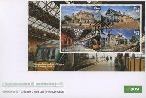 Ireland 2155b FDC cover train station (2110 187)
