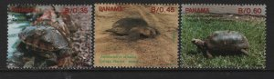 PANAMA 780-782  MNH TORTOISES SET 1990