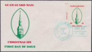 Guam Guard Local Post FDC Christmas 1978