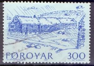 Faroe Islands 1987 used 152 farm buildings  300ore    #