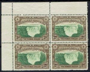 SOUTHERN RHODESIA 1932 VICTORIA FALLS 2D MNH ** BLOCK