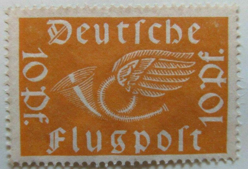 A6P44F67 Germany 1919 Air Post Stamp 10pf mint no gum