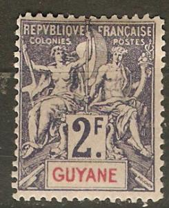 French Guiana 50 Cer 48 Forgery MLH VF 1902 SCV $160*