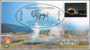 16-392, 2016, Yellowstone NP, National Parks Centennial, Pictorial Cancel