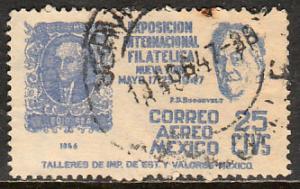 MEXICO C167, 15c Cent Intl Philat Exhib FDR & Mex#1Used. F-VF. (1040)