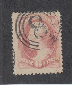 US 186 6c LINCOLN SOUND CENTERED STAMP $5.95