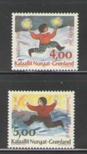Greenland Sc 301-2 1995 Christmas stamp set mint NH