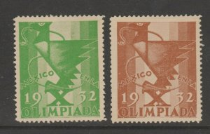 Mexico Cinderella Revenue Fiscal stamp 2-22  with gum Olympics