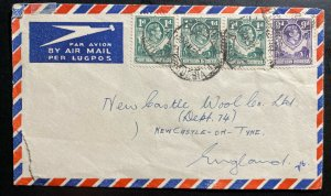 1952 Northern Rhodesia Airmail Commercial Cover To Newcastle England