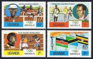 Uganda 151-154,154a,MNH.Michel 141-144,Bl.2. Olympics Montreal-1976.Winners.