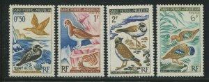 Saint-Pierre & Miquelon 1963 Sc 362-365 Birds Pigeon Duck Plover CV $7.60