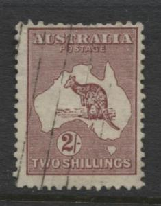 Australia - Scott 125 - Kangaroo -1931 - FU - Wmk 228 - 2/- Stamp9