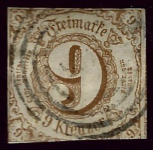 Thurn & Taxis SC#55 Used Fine hr SCV$45.00...Worth a Close Look!