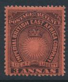 British East Africa Company  SG 8  SC#18  Mint Hinged - perf 14 -  see details