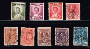 THAILAND STAMP SIAM  USED STAMPS COLLECTION LOT #5