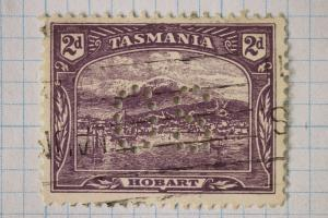Tasmania sc#97 A12 design Official use perfin OS unlisted uncatalogued used