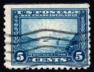 US STAMP #403 1913 5¢ Panama-Pacific Exposition Commemorative P. 10 USED