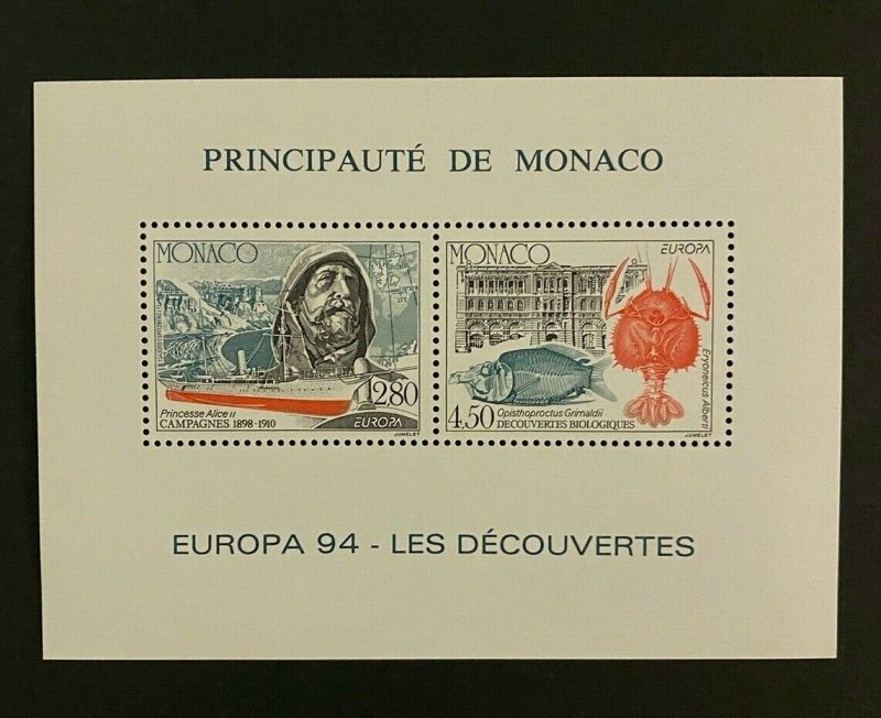 Monaco Stamps Bloc Special N°23 Europa 1994