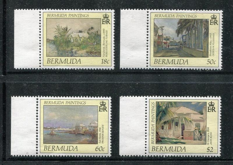 Bermuda 590-593 MNH Paintings 1990 by Ross Sterling Turner Ogden Bush x18443