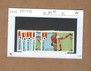 Laos  337-342  MNH