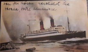 O) OLD SHIP - TRANSATLANTIC MAIL STEAM VESSEL VALBANERA, POSTAL STATIONERY, XF