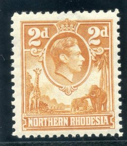Northern Rhodesia 1938 KGVI 2d yellow-brown superb MNH. SG 31. Sc 31.