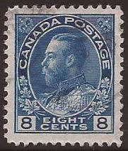 Canada - Scott# (040 - used single) 115 (1925) VF King Ge...