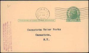 United States, New York, Government Postal Card