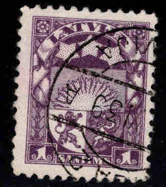 Latvia Scott 135 Used coat of arms stamp3