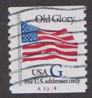 US 2890 Old Glory Used PNC Single Plate A3314 HipStamp