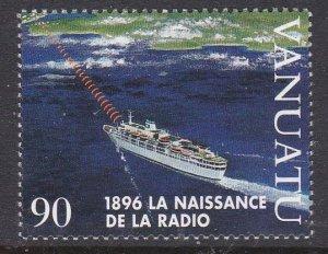 Vanuatu #683 single F-VF Mint NH ** Ship, radio signal