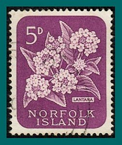Norfolk Island 1960 Lantana Flowers, used  #32,SG27