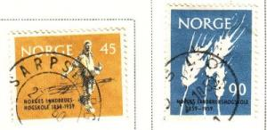 Norway Sc 378-9 1959 Ag College stamps used