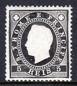 St. Thomas and Prince Islands - Scott #15 - MH - SCV $3.75