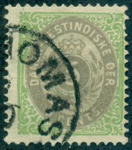 Danish West Indies #8b  Used  Scott $25.00