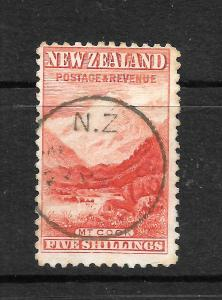 NEW ZEALAND 1899  5/-  PICTORIAL    FU  P11  SG 270