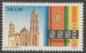 MEXICO 1791 N$2.00 Tourism Coahuila, church, sarape. Mint, Never Hinged F-VF.