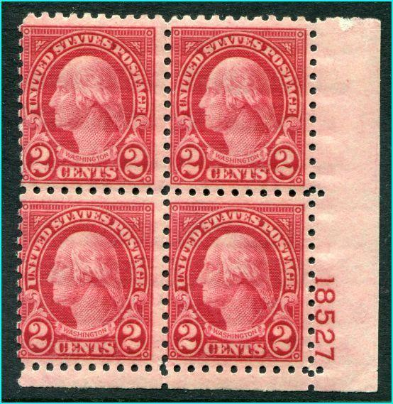 #583  Mint Never hinged    Plate Block of four