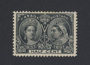 Canada Victoria Jubilee MH Stamps #50-1/2c MH F/VF Thin Guide Value= $100.00