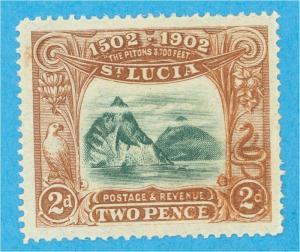 St Lucia 49 Postfrisch mit Scharnier Og Kein Fehler Sehr Fein