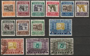 Colombia 1932 Sc C96//C110 air post partial set MLH*/used