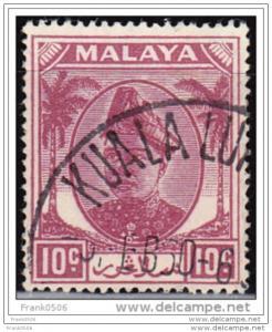 Malaya - Selangor 1949, 10c, sc#86, used