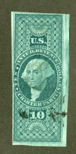 US Stamps # R93a Revenue Fresh Large Margins Rare Scott Value $1,900.00