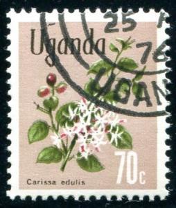 Uganda Sc#123 Flower  MNH CTO
