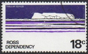 Ross Dependency 1979 18c Tabular Ice Floe used