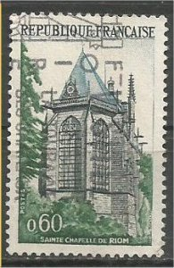 FRANCE, 1971 used 60c, Sainte Chapelle, Scott 1310