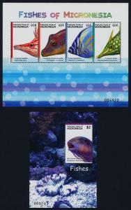 Micronesia 742-3 MNH Fish, Marine Life